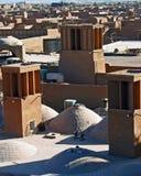 Windtowers, Yazd Royalty-vrije Stock Afbeeldingen