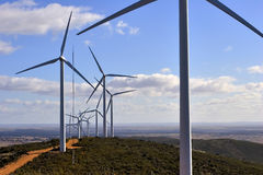 WindTriebwerkanlage Stockbild