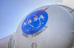 Windtunneler på forskningscentrat för NASA Ames Arkivfoto