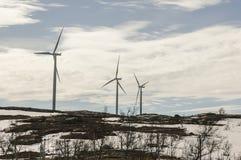 Windturbin som frambringar elektricitet Fotografering för Bildbyråer