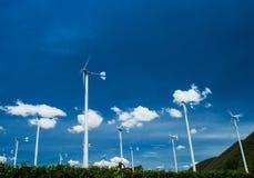 Windturbine dla elektryczności w Thailand Obraz Stock