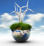 Windturbine and Earth Royalty Free Stock Photo