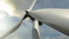 Windturbine of elektrische molen Stock Afbeelding