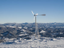 Windturbine. Energie Lizenzfreies Stockfoto