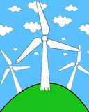 Windturbine illustration stockfotos