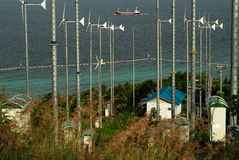 Windturbine in koh lan, pattaya, thailand Royalty Free Stock Photography