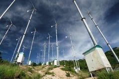 Windturbine in koh lan, pattaya, thailand Stock Images