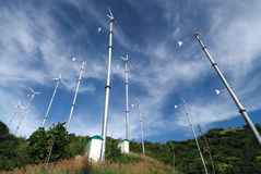 Windturbine in koh lan, pattaya, thailand Stock Photo