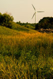 Windturbine_meadow Stock Photos