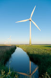Windturbine in the Netherlands Stock Photo