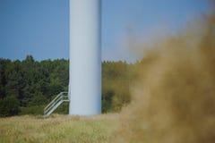 Windturbine at sunny day Royalty Free Stock Image