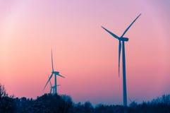Windturbine at sunset Royalty Free Stock Photo
