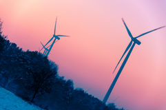 Windturbine at sunset Stock Photography