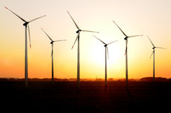 Windturbinebauernhof Stockbilder