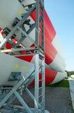 Windturbinebauernhof Stockfotos