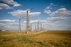 Windturbinebauernhof Stockfotografie