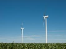 Windturbinebauernhof Stockfoto