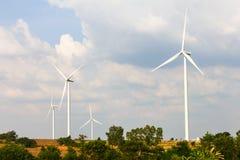 Windturbinefeld Stockfoto