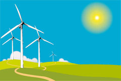Windturbinen Lizenzfreies Stockbild