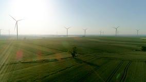 Windturbinen auf dem Feld stock video footage