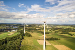 Windturbinen für saubere Energie stockfoto