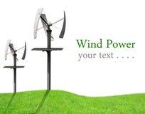 Windturbinen, gelbes Feld Stockfoto