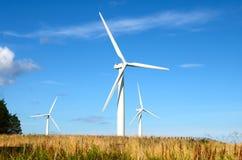 Windturbinen, gelbes Feld Lizenzfreies Stockfoto