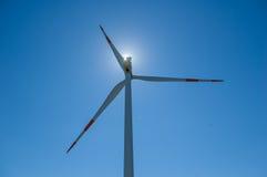 Windturbinen, gelbes Feld Lizenzfreie Stockbilder