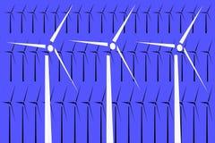 Windturbiner Arkivfoto