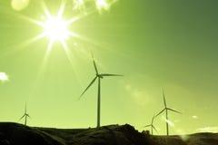 Windturbiner Royaltyfria Bilder