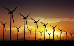 Windturbiner Royaltyfri Bild