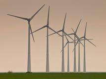 windturbines σειρών Στοκ εικόνες με δικαίωμα ελεύθερης χρήσης