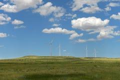 Windturbines на холме Стоковое Изображение RF