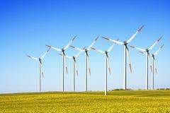 windturbines фермы Стоковые Фото