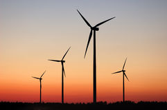 Windturbines Royalty Free Stock Photo