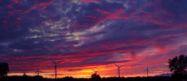 Windturbines Arkivfoton