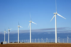 Windturbines Stock Foto's