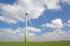 Windturbines on a agricultural field Royalty Free Stock Photo
