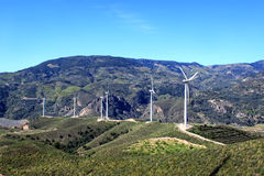 Windturbines in Andalusia, Spanje Royalty-vrije Stock Foto's