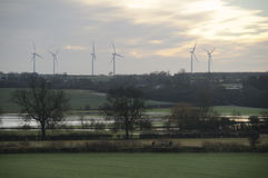 Windturbines Buckinghamshire Engeland het UK Stock Foto