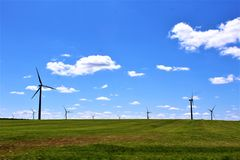 Windturbines in Chateaugay, Franklin County, in upstate New York, Verenigde Staten royalty-vrije stock fotografie
