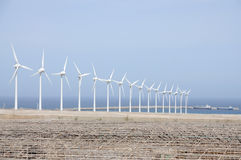 Windturbines for clean energy Stock Images