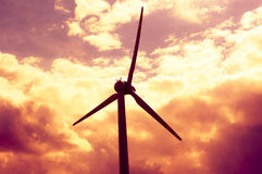 Windturbines at dusk Royalty Free Stock Photo