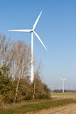 Windturbines in Dutch rural landscape Stock Photography
