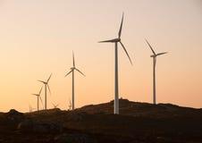 Windturbines in een landschap royalty-vrije stock fotografie