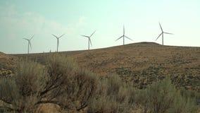 Windturbines en Zonneschijn, WA, de V.S. 4K UHD stock video
