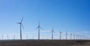 Windturbines in eolic park Stock Foto