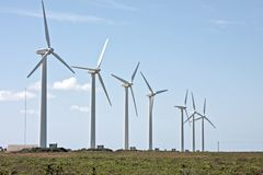 Windturbines in the fields from Portugal Stock Photography