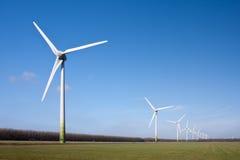 Windturbines of Flevoland, the Netherlands Stock Image