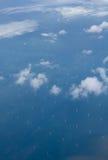 Windturbines in het overzees Royalty-vrije Stock Afbeeldingen